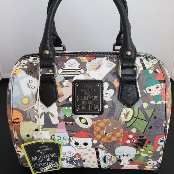 Nightmare Before Christmas Purses Handbags.Loungefly Nightmare Before Christmas Chibi Duffel Boutique